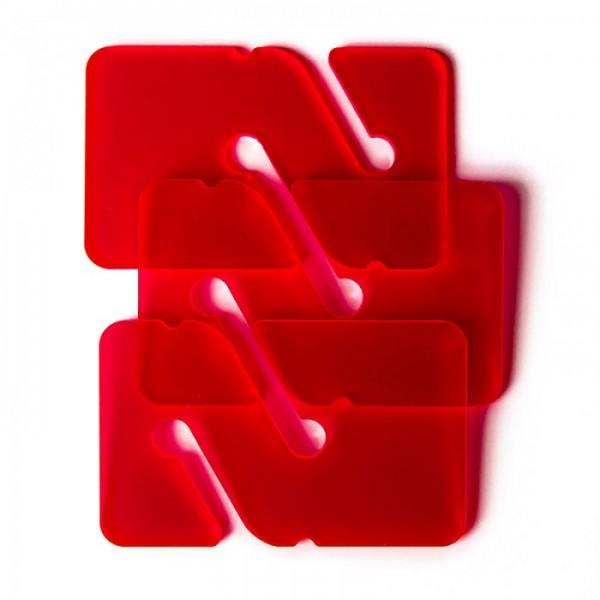 Marker REM's - Rot Transparent (3 Stück)
