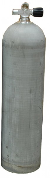 MES, 11,1 L (80 cuft) 207 bar Aluminium Tauchflasche mit RE Ventil Dirty Beast