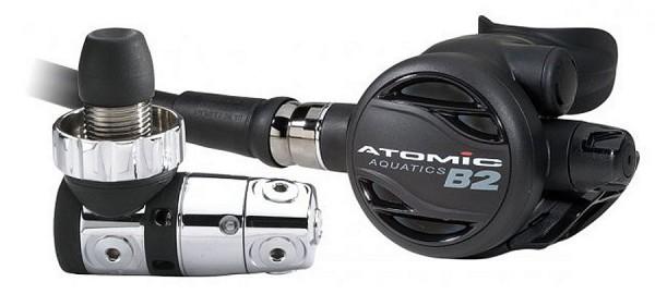 Atomic B2 Atemregler Set Schwarz 1. und 2. Stufe
