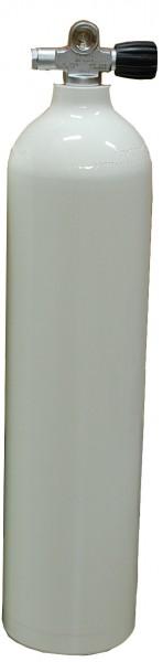 MES, 7 L 200 bar Aluminium Tauchflasche mit RE Ventil Weiß