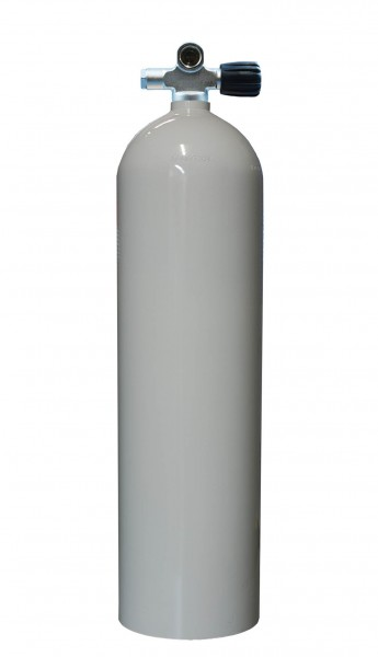 MES, 11,1 L (80 cuft) 207 bar Aluminium Tauchflasche mit RE Ventil Weiß