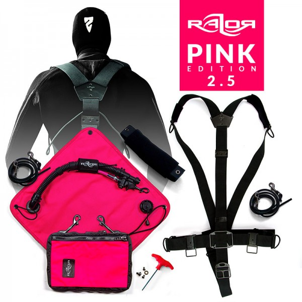 Das Basic Razor Sidemount System 2.5 Complete - PINK Limited Edition