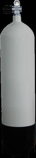 ecs, 12 L Lang / 232 bar Stahlflasche mit Einfach Ventil