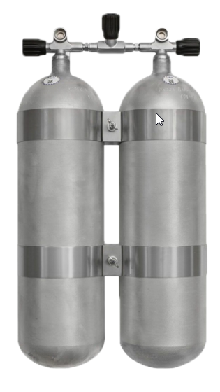 Faber, 2x 10 L / 200 bar leichtes Doppelgerät mit Absperrbrücke - Hot Dipped