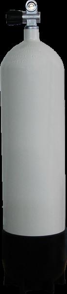 ecs, 12 L Lang / 232 bar Stahlflasche mit erweiterbarem RE Ventil