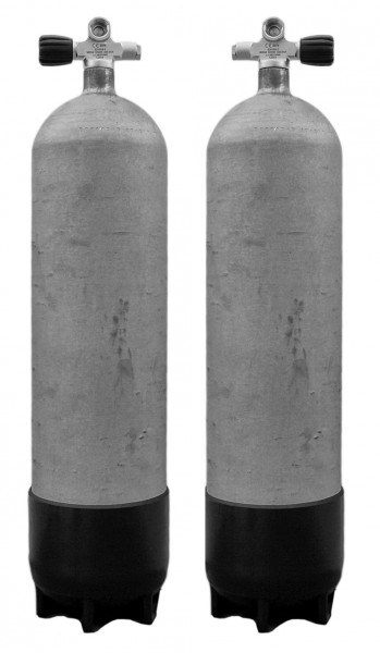 Faber, 12 L Sidemount Set LI/RE 200 bar Stahlflaschen (Hot Dipped)