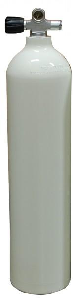 MES, 7 L 200 bar Aluminium Tauchflasche mit LI Ventil Weiß