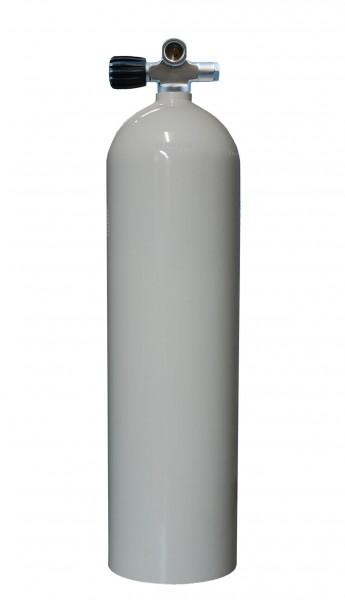 MES, 11,1 L (80 cuft) 207 bar Aluminium Tauchflasche mit LI Ventil Weiß